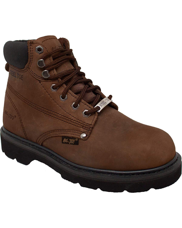 Ad Tec Men's 6 Inch Steel Toe 1981-M Work Boot, Brown