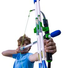 FAUX BOW Pro – Shoots Over 200 Feet – Bow and Patented Arrow Archery Set