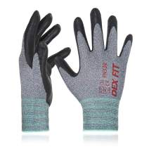 DEX FIT Nitrile Work Gloves FN330, 3D Comfort Stretch Fit, Durable Power Grip Foam Coated, Smart Touch, Thin Machine Washable, Grey X-Small 3 Pairs Pack