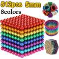 5MM 512 Pieces Magnetic Sculpture Magnet Building Blocks Fidget Gadget Toys for Stress Relief, Office and Home Desk Toys for Adults