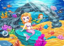 Yobooom Wood Jigsaw Puzzles 60 Pieces for Kids Ages 4-8 The Mermaid
