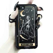 Rogue + Wolf Death Tarot Card Phone Case with Metallic Gold Mirror Details Compatible with iPhone 11 Cases Wiccan Goth