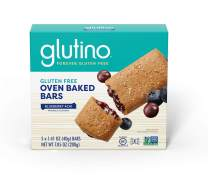 Glutino Free Oven Baked bar, Blueberry Acai, Naturally Flavored, 5Count (Pack of 12)