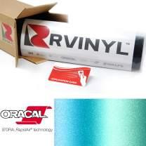 ORACAL 970RA Shift Effect Matte Aquamarine 318M Wrapping Cast Film Vehicle Car Wrap Vinyl Sheet Roll - (2ft x 5ft w/App Card)
