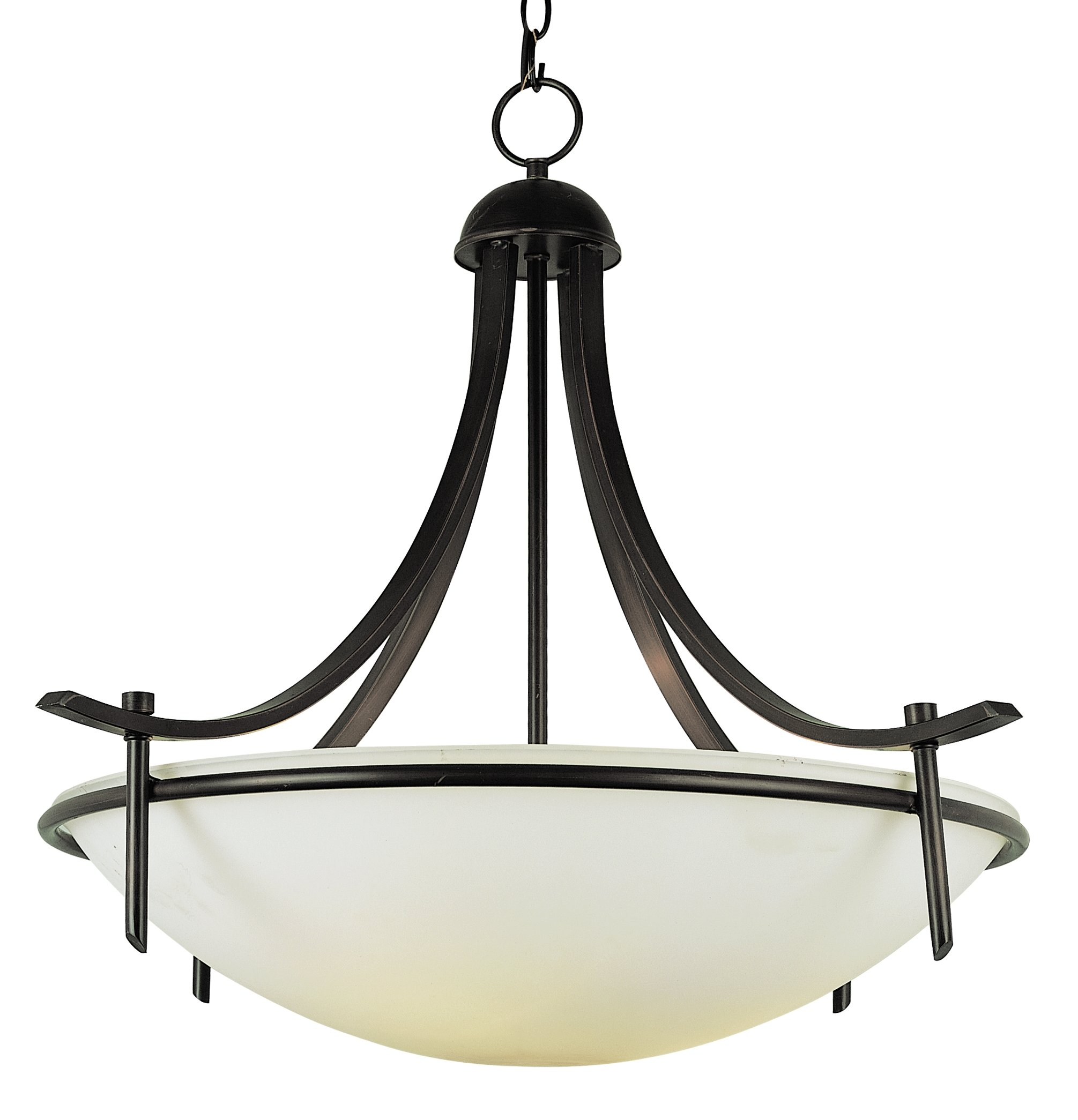 Bel Air Lighting Trans Globe Imports 8177 ROB Transitional Three Light Pendant from Vitalian Collection Dark Finish, 26.00 inches, Rubbed Oil Bronze