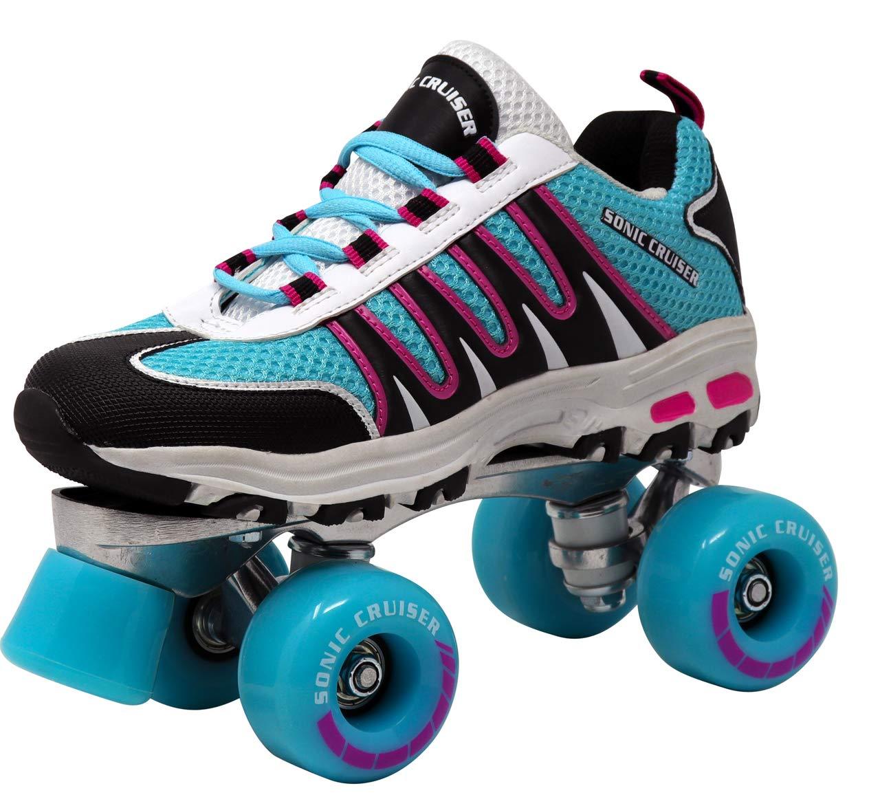 Lenexa Sonic Cruiser 2.0 Unisex Outdoor High Performance Rebound Wheels Quad Roller Speed Skates for Men and Women - Sneaker Shoe Style for Outdoor Skating