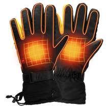 GENERAL ARMOR Heated Gloves for Men & Women, Waterproof Thermal Gloves for Hiking Skiing Motorcycle