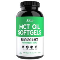 KETO Function MCT Oil Capsules - 240 Organic C8 MCT Pills from Pure Coconut Oil - The Perfect Keto Diet Pill - Easy to Digest 1000mg Softgels to Fuel Energy, Brain Support, Ketosis & Ketones Now