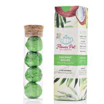 Flavored Blooming Tea - Coconut Escape - 4 Tea Blooms - Makes 3 Infusions Each