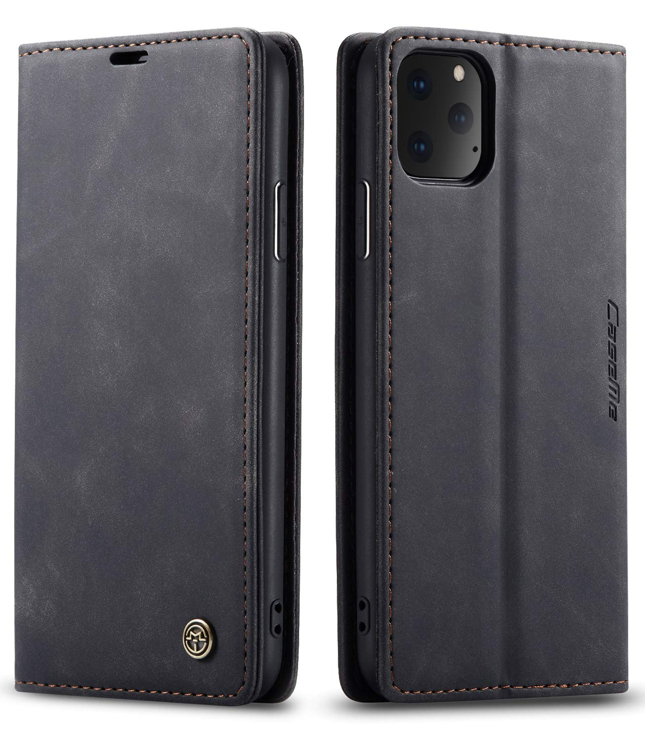 SINIANL iPhone 11 Pro Max Wallet Case iPhone 11 Pro Max Leather Case Book Folding Flip Case with Kickstand Credit Card Slot Magnetic Closure Protective Cover for iPhone 11 Pro Max 2019 6.5 - Black