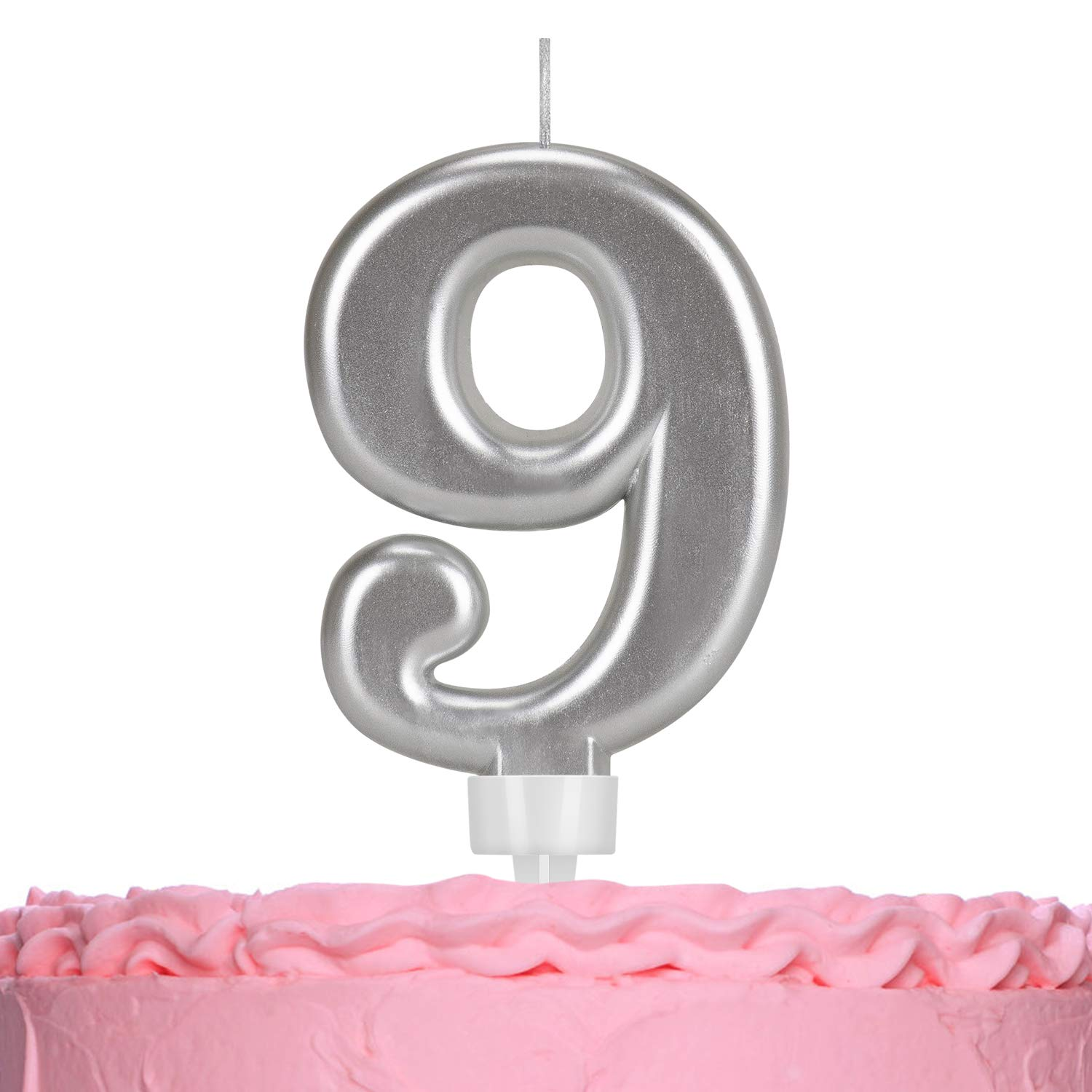 HIMETSUYA Brithday Candles Number, Colorful Number 0-9 Birthday Cake Candles for Birthday, Wedding, Theme Party, Celebrating Festivals (Number 9)