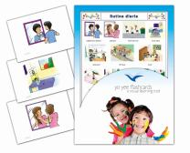 Tarjetas de vocabulario - Rutina diaria - Daily Routines Flash Cards in Spanish for Toddlers 2-4, Kids, Children and Adults