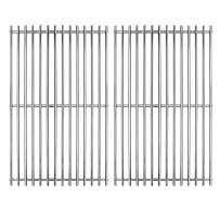 """Hongso 17"""" SUS 304 Stainless Steel Cooking Grid Grates Replacement for Charbroil 463250509, 463250510, Great Outdoors, Thermos 461262409, Vermont Castings Gas Grill SCA022, Set of 2"""