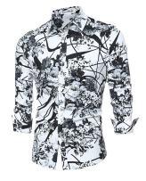 Men's Shirt Stylish Slim Fit Button Down Long Sleeve Floral Shirt
