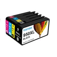 TIANSE Compatible Ink Cartridge Replacement for HP 950XL 951XL to use with HP Officejet Pro 8100, 8600, 8610, 8615, 8620, 8625, 8630, 8640, 8660, 251DW, 271DW Printers(1 Set: 1BK 1C 1M 1Y)