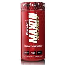 iSatori Maxon Pre Workout Stimulant Free - Fenugreek and Kre Alkalyn Creatine Pure Strength Muscle Gainer Lasting Energy For Men and Women Keto Friendly - Dietary Supplement - 84 Rapid Release Caplets