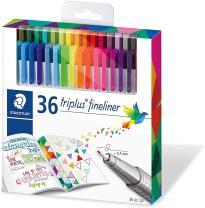 Color Pen Set, Set of 36 Assorted Colors (Triplus Fineliner Pens) #1 Pack