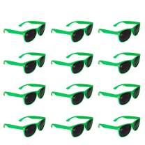 12 Pack Retro Sunglasses Bulk for Kids Adults Party Favors