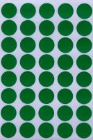 Royal Green Blank Stickers Color Dots 19mm 3/4 inch - Green - 280 Pack
