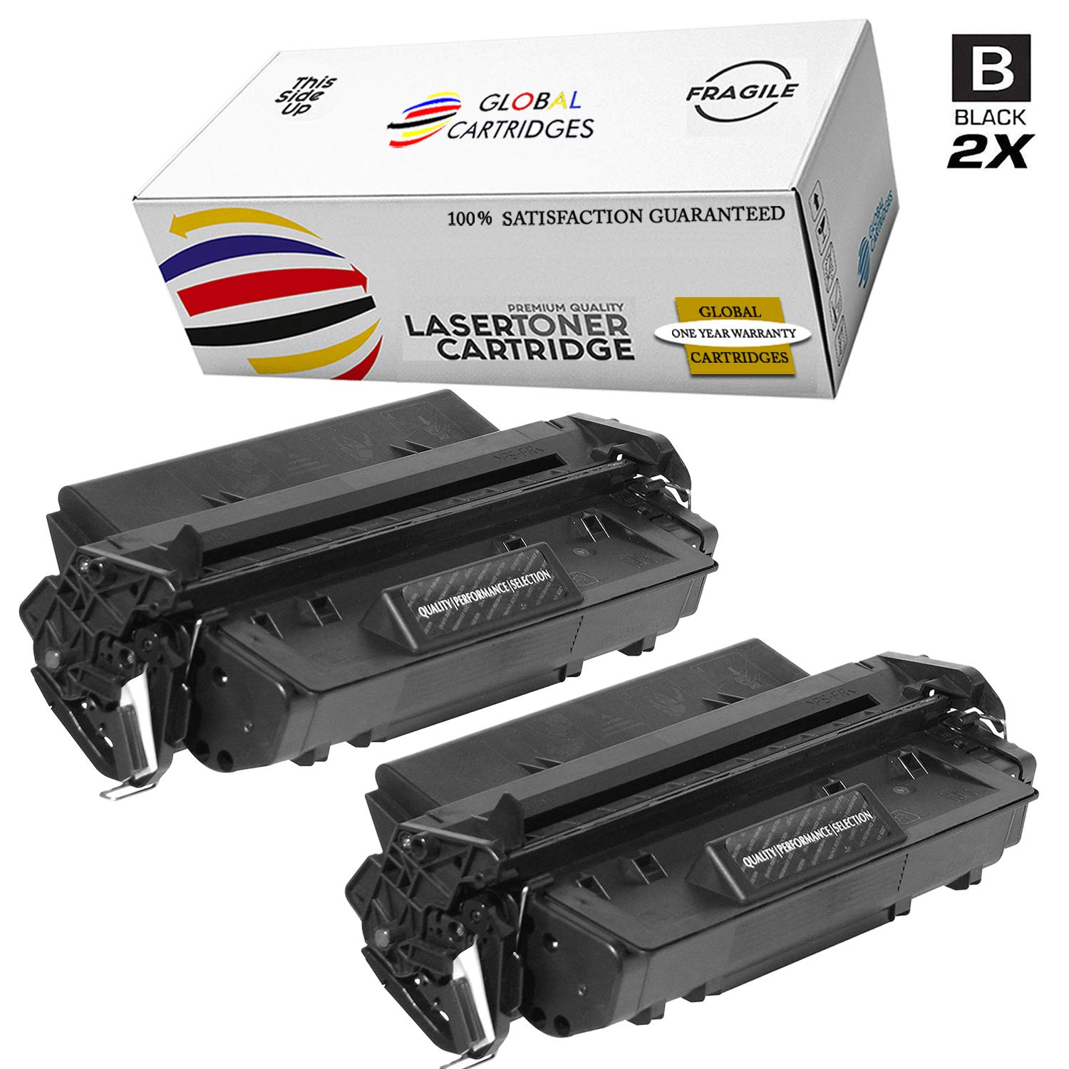 GLB Premium Quality Compatible Replacement For HP 96A / HP C4096A Black Laser Toner Cartridge for HP LaserJet 2100, 2100M, 2100se,2100TN,2100xi,2200, 2200D,2200DN,2200DT,2200DTN Printers(2-Pack)