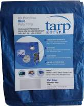 Kotap TRA-2040 All Purpose Poly Tarp, Mold, Mildew, Tear and UV Resistant, 20 x 40-Foot, Blue