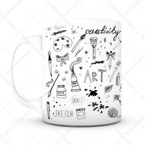 Art Coffee Mug - Unique Gifts For Men or Women, Him or Her - Cool Present Idea For Artists, Designers, Mom, Dad, Kids, Son, Daughter, Husband, Wife, Boss or Friends