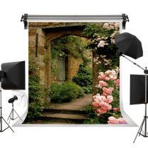Kate 5x7ft/1.5m(W) x2.2m(H) Wedding Background Spring Backdrop Bridal Shower Background Pink Rose Brick Arch Door Background Photographer Backdrop