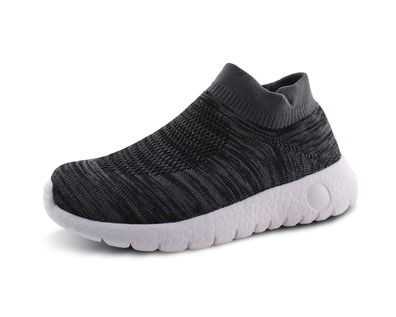 Jabasic Kids Walking Shoes Boys Girls Breathable Slip on Knit Sock Sneakers