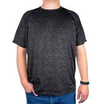 Men's Athletic Performance T-Shirt - Cool Comfort and Dri-Fit - Short Sleeve Crew Neck Tee