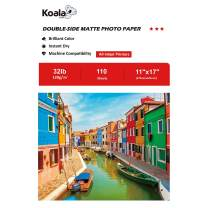 Koala Presentation Paper Double-Sided Matte for Printing Photo 11X17 Inches 110 Sheets Compatible with Inkjet Printer