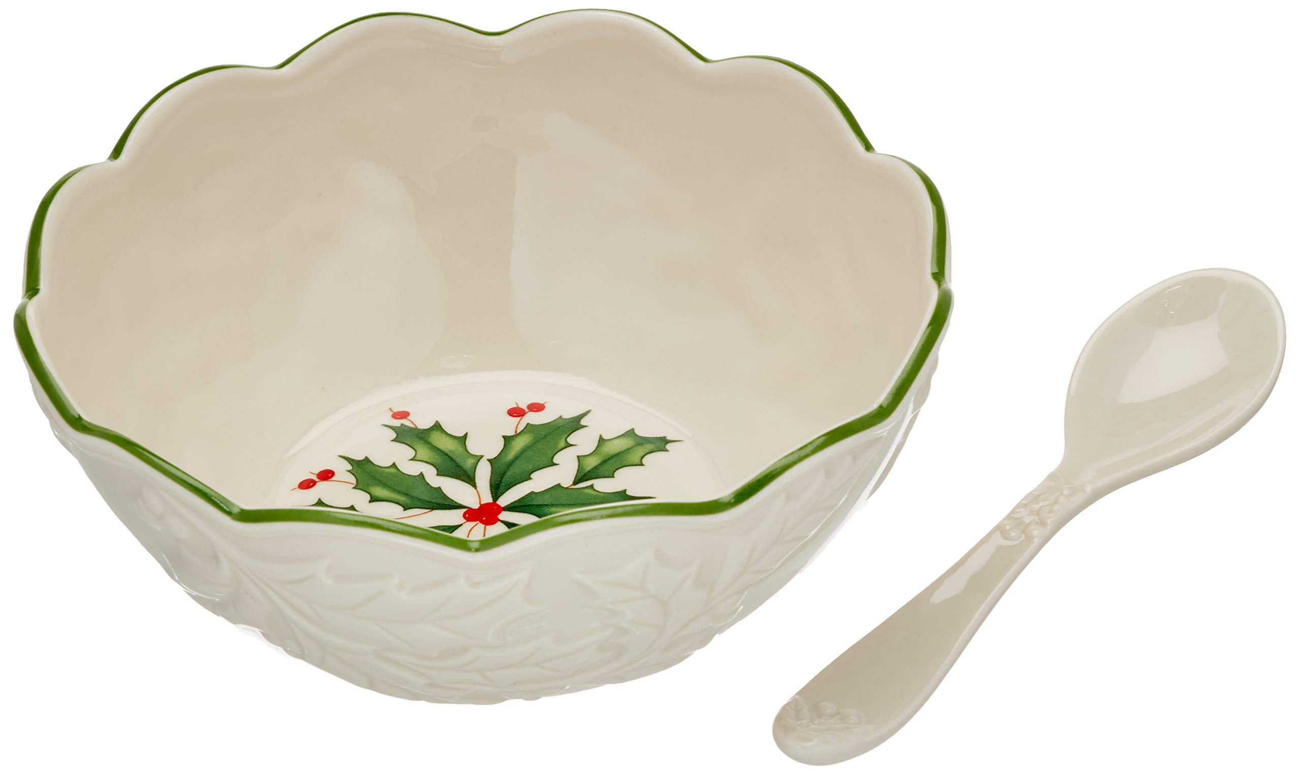 Lenox 882773 Holiday Dip Bowl with Spoon
