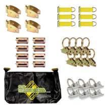 DC Cargo Mall E Track Tie-Down Kit - 32 Pieces: E-Track Accessories & E-Track Storage Bag (E-Track Rails NOT Included)