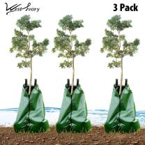 West Ivory Slow Release Automatic Drip Irrigation 15 Gallon Tree Watering Bag 3pk