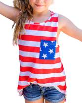 HH Family 4th of July Shirts for Girls Patriotic American Flag Kids Clothing