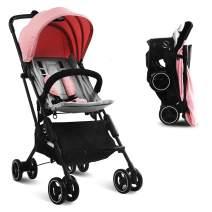 Stroller, Kidsclub, Airplane Stroller, Lightweight Compact Stroller for Toddler, One Button Foldable Stroller for 0-3 Y, Baby Stroller for Travel, Umbrella Stroller with Storage, No Need Installation