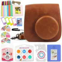 WOGOZAN Compatible Fujifilm Instax Mini 9/8 Instant Camera Bundle with Case/Album/Filters/Camera Sticker/Selfie Len/Photo Frames/Hand Strap&Other Accessories for Inst