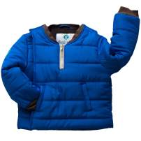 Buckle Me Baby Coat - Safer Car Seat Boys Winter Jacket - Deepest of Oceans Blue - Size 12 Months