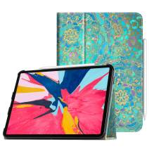 "Fintie Folio Case for iPad Pro 11"" 2018 [Supports 2nd Gen Pencil Charging Mode] - PU Leather Folio Stand Cover with [Secure Pencil Holder] Auto Sleep/Wake for iPad Pro 11 inch, Shades of Blue"