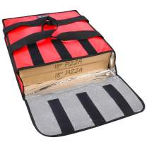 """YOPRAL Pizza Delivery Bag Insulated Food Warmer Bag Carry Hot Moisture Free Hold 2-16"""" / 18"""" Pizza Boxes (Red, 20""""X 19""""X 5"""")"""