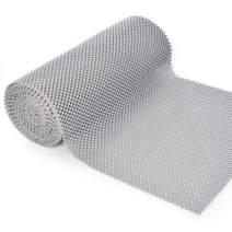 BNYD Drawer Liner Non Adhesive Kitchen Shelf Liner, Anti-Slip Mat Cabinet Grip Liner 12 inch x 240 inch (Grey)