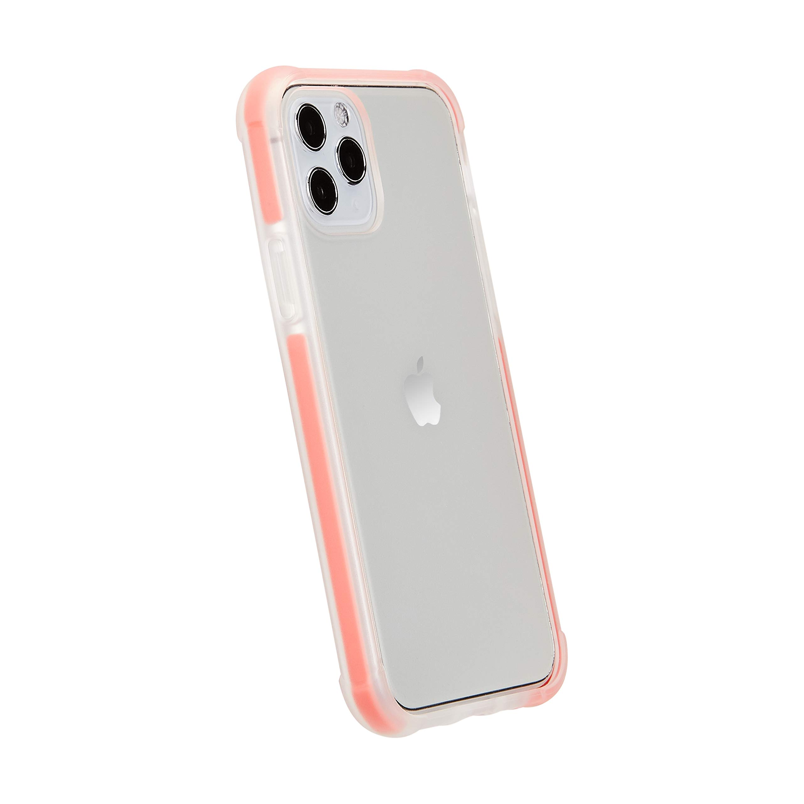 AmazonBasics iPhone 11 Pro Max Crystal Mobile Phone Case (Protective & Anti Scratch) - Red Accent