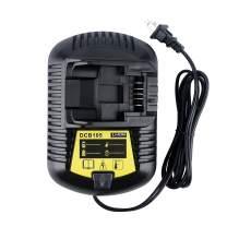 Lasica DCB107 DCB112 Battery Charger for DEWALT 12V MAX & 20V MAX Cordless Drill Battery DCB205 DCB204 DCB203 DCB206 DCB201 DCB606 DCB609 DCB120 DCB127 DeWalt 20V Battery Charger DCB115 DCB118 DCB105