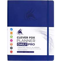 """Clever Fox Planner Daily PRO - 8.5 x 11"""" A4 Size Daily Life Planner and Gratitude Journal to Increase Productivity, Time Management and Hit Your Goals - Undated - Lasts 3 Months (Royal Blue)"""