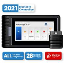 Diagnostic Tool TOPDON ArtiDiag800BT OBD2 Scanner All Systems Scan Tool, 28 Maintenance Services Free Lifetime Software Upgrade Android 10.0 Diagnostic Scanner for DIY, DIFM