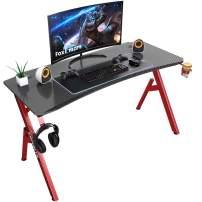 Foxemart 47 inch Gaming Desk, PC Game Computer Desk Workstation, Professional Gaming Desk, Office Gamer Desk with Cup Holder & Headphone Hook