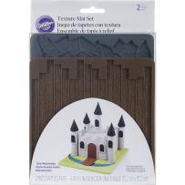 Wilton 409-2572 Texture 2-Piece Mold Set, Cobblestone/Wood