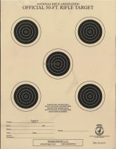 DOMAGRON 50 Foot Small Bore Five Bullseye Official NRA Target - TQ-1/5(T)