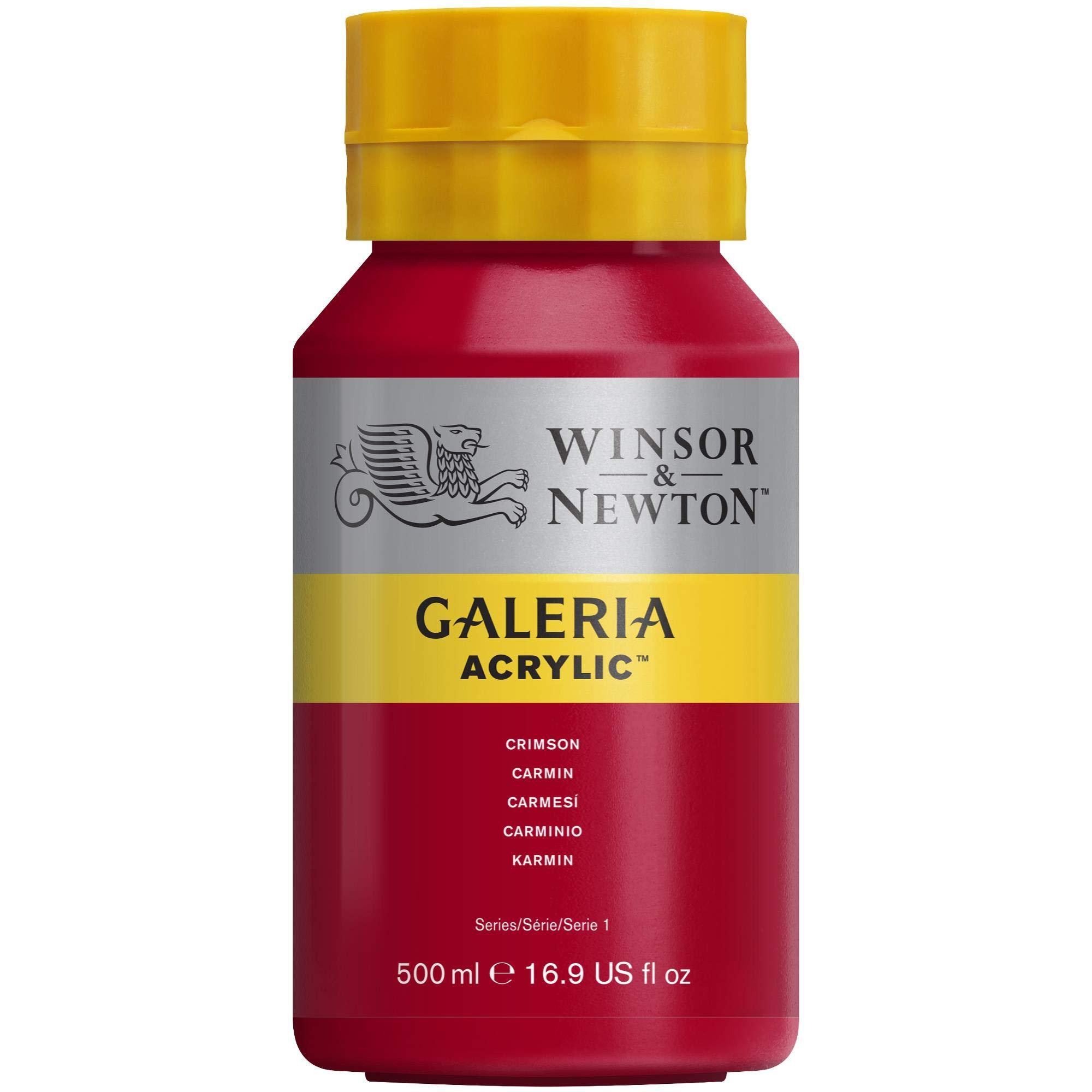 Winsor & Newton Galeria Acrylic Paint, 500ml Bottle, Crimson