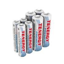 Tenergy Premium NiMH Rechargeable Battery Package: 4 AA 2500mAh + 4 AAA 1000mAh