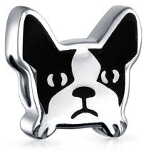 Frenchie French Bulldog Face Dog Pet Charm Bead 925 Sterling Silver Fits European Charm Bracelet For Women For Teen